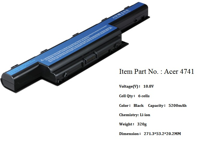 Acer 4741 replacement laptop battery